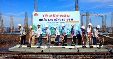 Lễ cất nóc tòa nhà Lạc Hồng Lotus 2 tại Ngoại Giao Đoàn