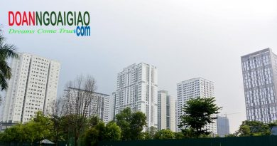 Một góc chụp các tòa nhà khu N03 khu Ngoại giao đoàn Hà Nội